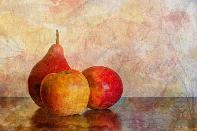 Trio Photograph - Apples And A Pear by Heidi Smith