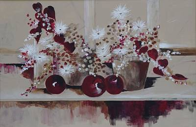 Mums Painting - Apples by Barbara Moak
