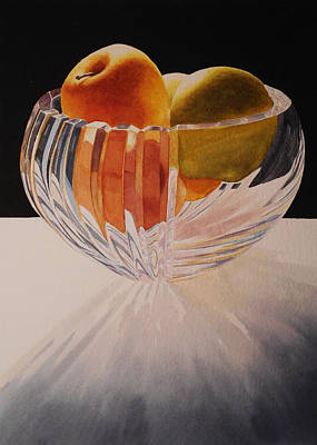 Apples Painting - Apples In Backlight by Jean Yates