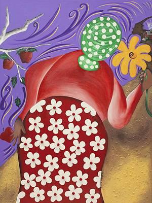 African American. Folk Art Painting - Apples by Patricia Sabree