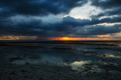 Approaching Storm At Sunset - Gili Islands Indonesia Print by Mountain Dreams