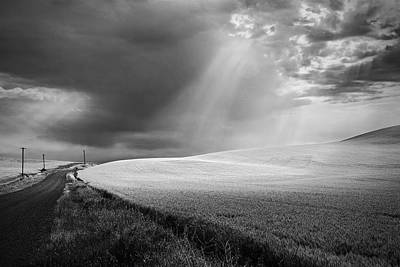 Telephone Poles Photograph - Approaching Storm by Latah Trail Foundation