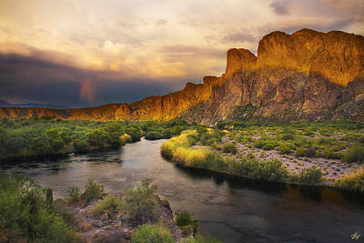 Peter James Nature Photograph - Approaching The Salt by Peter Coskun