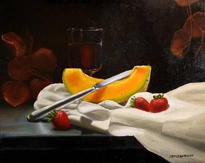 Italian Wine Painting - Apres Le Repas by Jan Brieger-Scranton