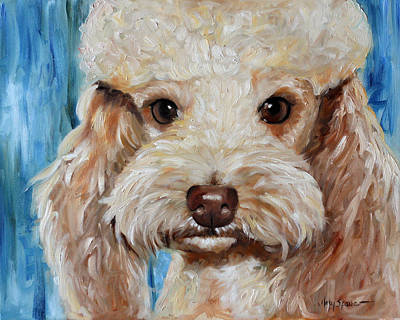 Dogs Painting - Apricot by Mary Sparrow