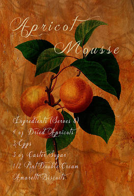 Redoute Digital Art - Apricot Mousse by Sarah Vernon