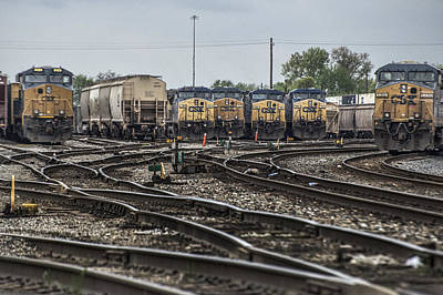 Evansville Photograph - April 30 2014 - Csx Howell Yards by Jim Pearson