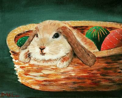 April Bunny Print by Anastasiya Malakhova