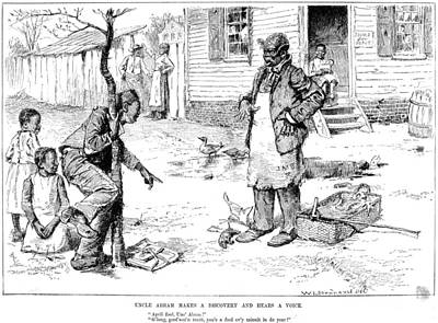 1884 Drawing - April Fool's Day, 1884 by Granger