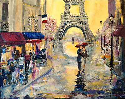 April In Paris Print by Alan Lakin
