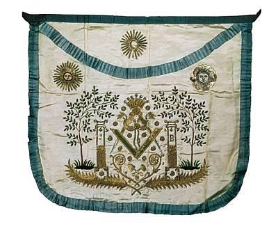Apron Of A Masonic Master. Textiles Print by Everett