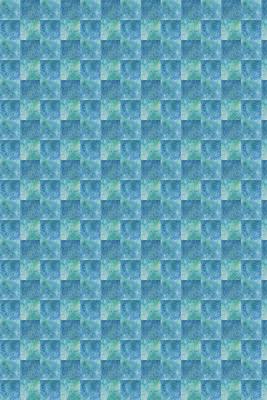 Aqua Checkers Print by Jenny Armitage