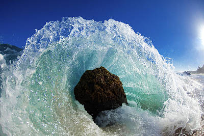 Crashing Photograph - Aqua Dome by Sean Davey
