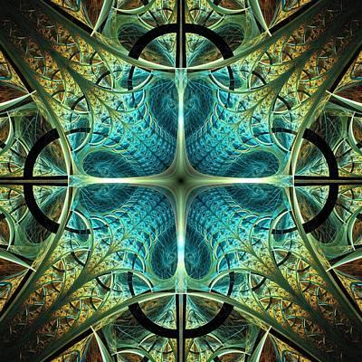 Portal Mixed Media - Aqua Shield by Anastasiya Malakhova