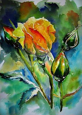 Watercolor Painting - Aquarelle by Elise Palmigiani