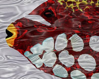 Colorful Tropical Fish Digital Art - Aquarium 3 by Jack Zulli