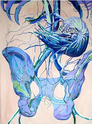 Anatomy Painting - Aquarium  by Rachel Hoffman