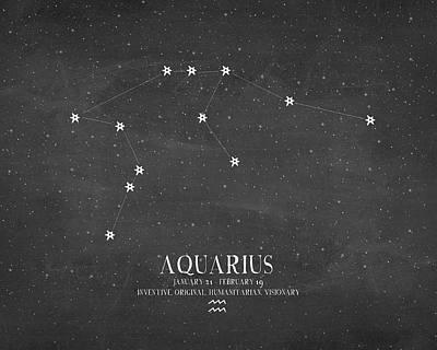 Zodiac Painting - Aquarius by Amy Cummings