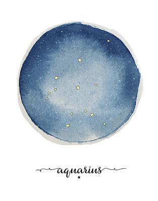 Zodiac Painting - Aquarius Circle by Amy Cummings