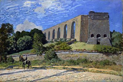 Alfred Sisley Painting - Aqueduct At Marly by Alfred Sisley