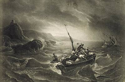 Arab Corsairs Attacked By Fishermen Print by Everett
