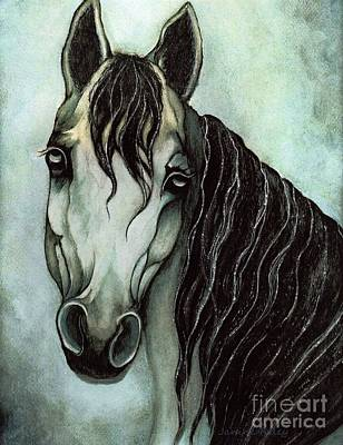 Purebred Painting - Arabian Horse  by Janine Riley