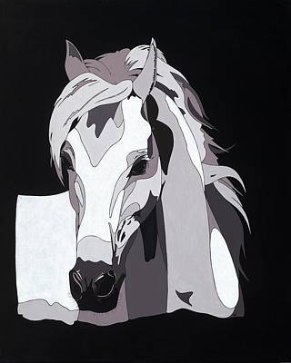 Arabian Horse With Hidden Picture Original by Konni Jensen