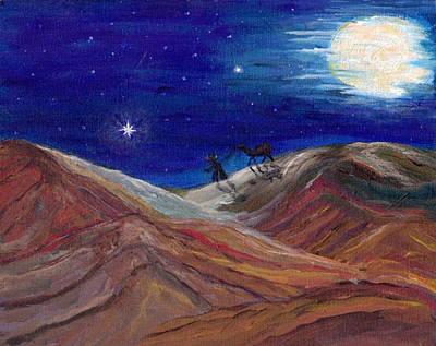 Desert Painting - Arabian Night by Mary Sedici