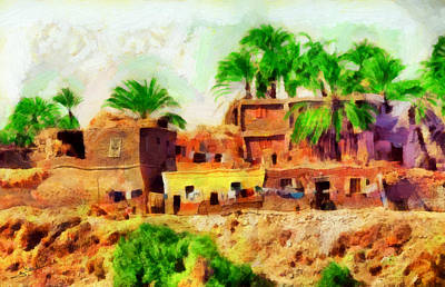 Landscape Painting - Arabian Rural Village by George Rossidis
