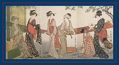 Arai-bari = Washing And Stretching Cloth Print by Artokoloro