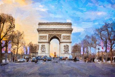 Arc De Triomphe - A Paris Landmark Print by Mark E Tisdale