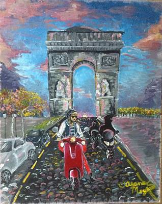 Taylor Swift Painting - Arc De Triomphe by Alana Meyers