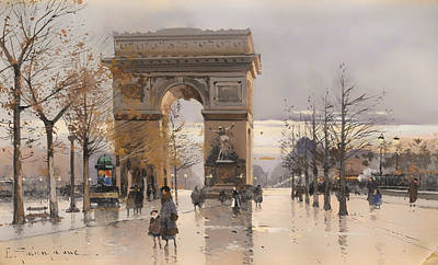 Wet On Wet Painting - Arc De Triomphe by Mountain Dreams