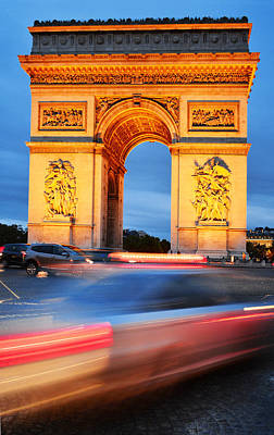 Arc De Triomphe Triumphal Arch In Paris Original by T Monticello