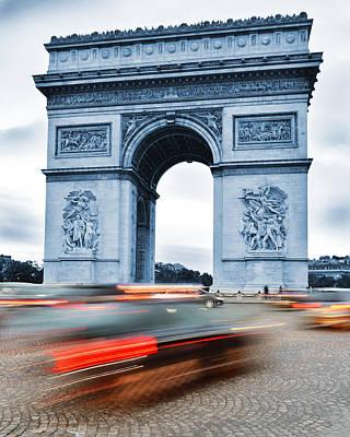 Arc De Triomphe Triumphal Arch Paris Original by T Monticello