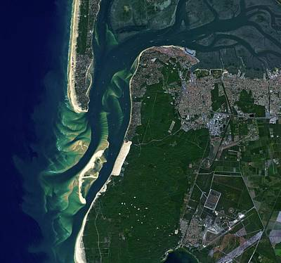 Satellite Image Photograph - Arcachon Bay by Jaxa/european Space Agency