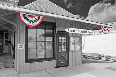 Arcade And Attica Depot Print by Guy Whiteley