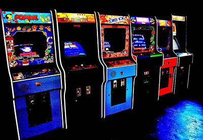 Vintage Video Game Photograph - Arcade Forever Nintendo by Benjamin Yeager