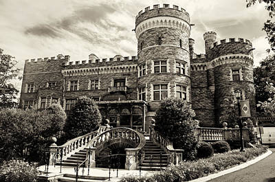 Beaver Digital Art - Arcadia College - Grey Towers Castle In Sepia by Bill Cannon