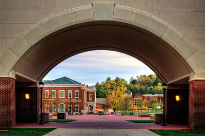 Arch At Balsam Hall - Western Carolina University Print by Greg and Chrystal Mimbs