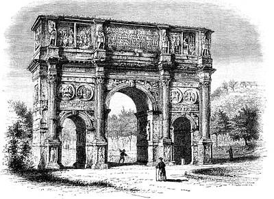 1859 Photograph - Arch Of Constantine by Collection Abecasis