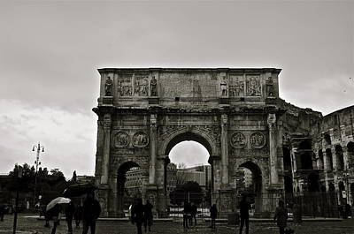 Black Photograph - Arch Of Constantine by Gregory  Kent