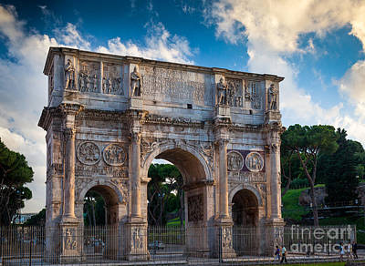 Arch Of Constantine Print by Inge Johnsson