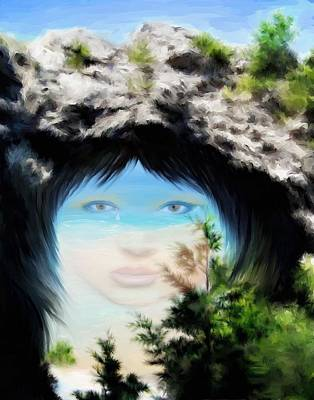Crying Painting - Arch Rock Indian Princess by Yvonne Della-Moretta