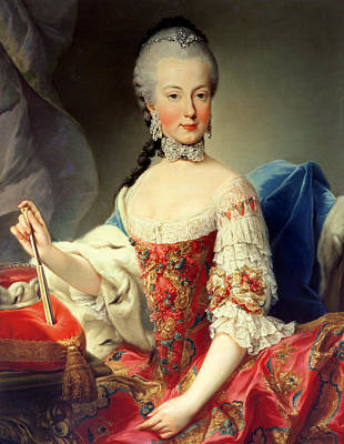 Choker Photograph - Archduchess Maria Amalia Habsburg-lothringen, 1746-1804, Eighth Child Of Empress Maria Theresa by Martin II Mytens or Meytens