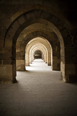 Arched Colonade Print by Maria Heyens