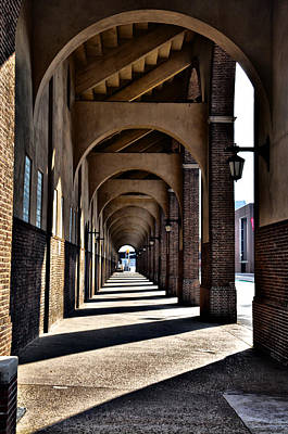 Arched Walkway At Franklin Field Print by Bill Cannon