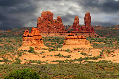 Eerie Photograph - Arches National Park - A Picturesque Drama by Christine Till