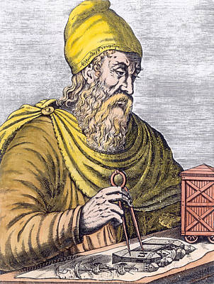 Greek Painting - Archimedes by French School