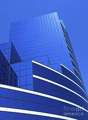 Glass Photograph - Architectural Blues by Ann Horn